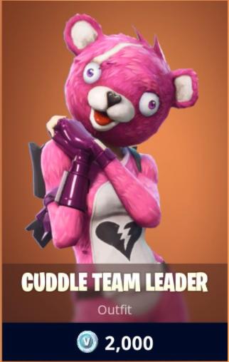 conjunto - oso rosa fortnite para colorear