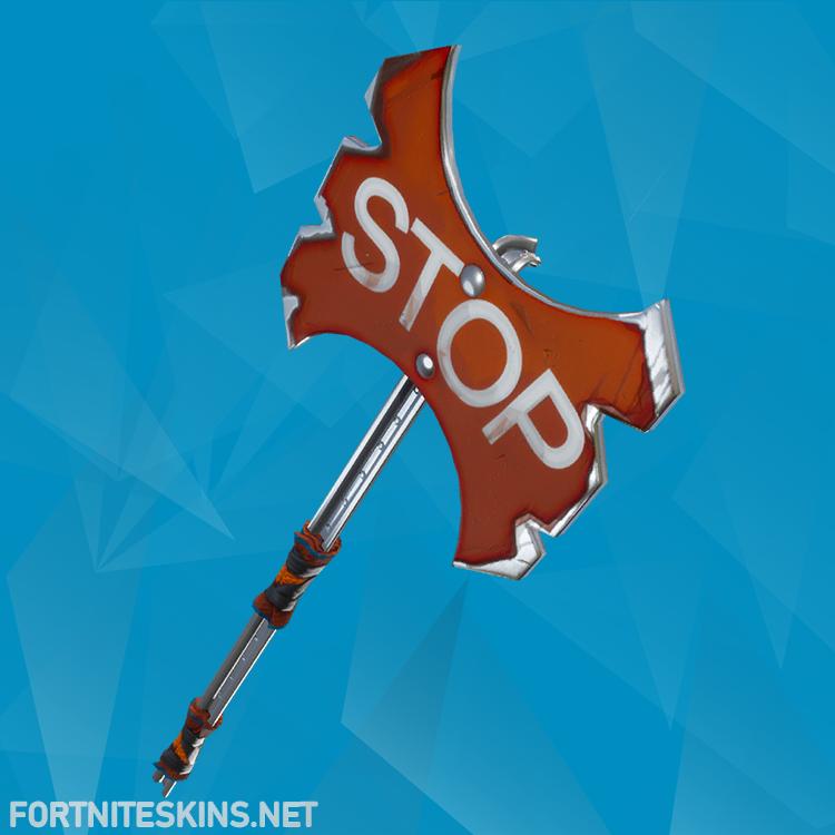 stop axe pickaxe