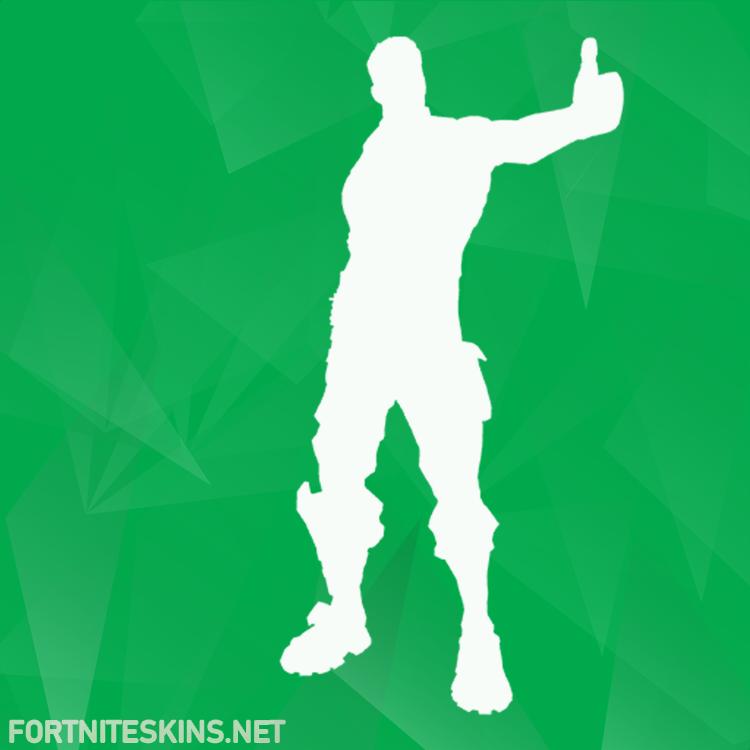 thumbs up dance emotes fortnite skins